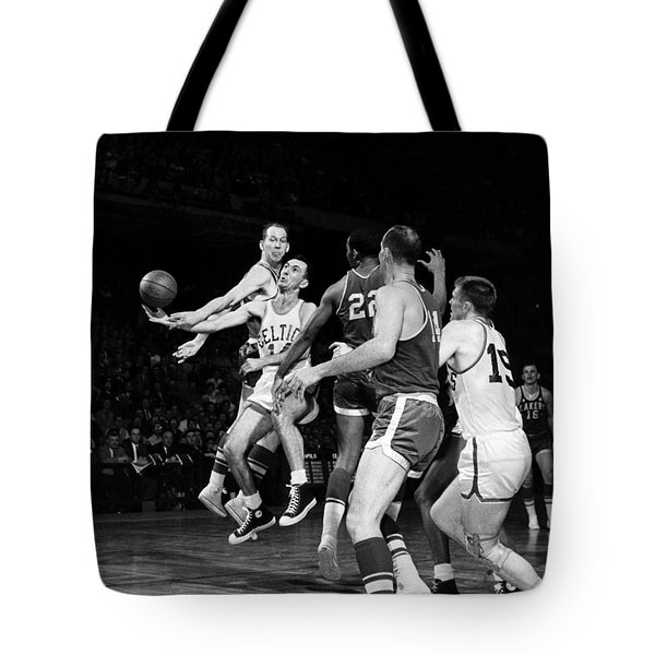 Basketball Game, C1960 Tote Bag by Granger