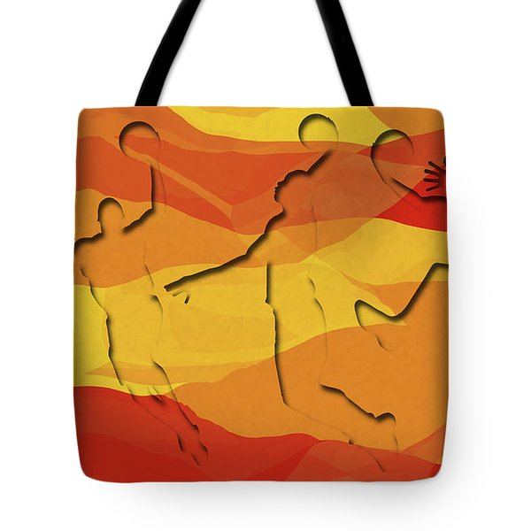 Basketball Players Abstract Tote Bag by David G Paul