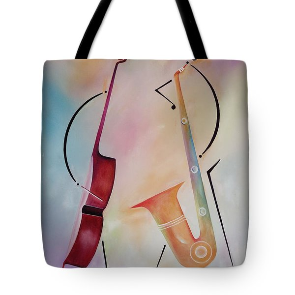 Bass And Sax Tote Bag by Ikahl Beckford