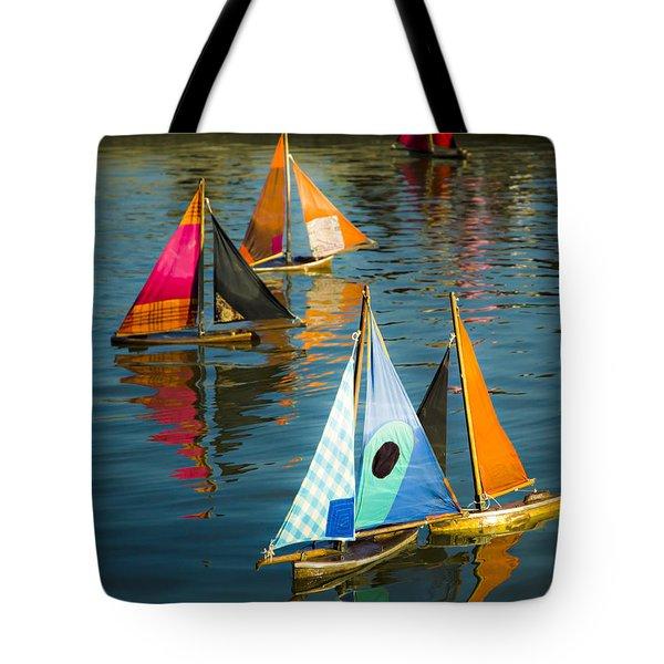 Bateaux Jouets Tote Bag by Beth Riser