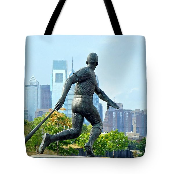 Batters City View Tote Bag by Alice Gipson