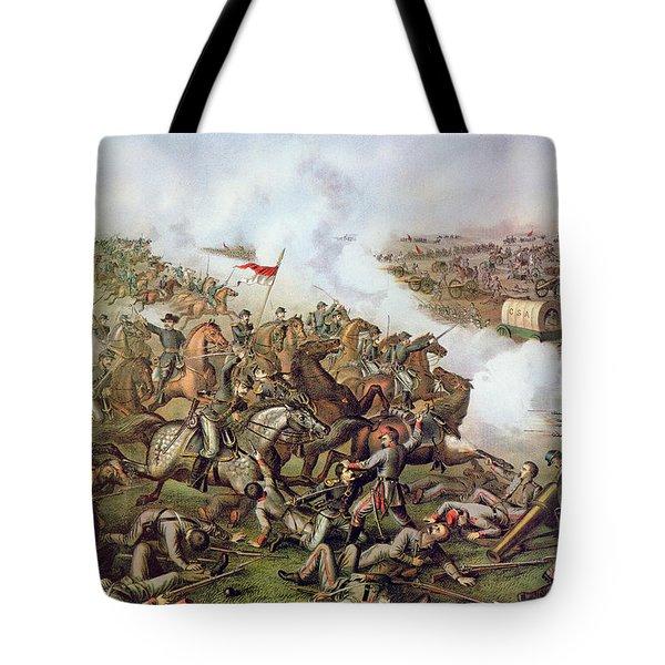 Battle Of Five Forks Virginia 1st April 1865 Tote Bag by American School