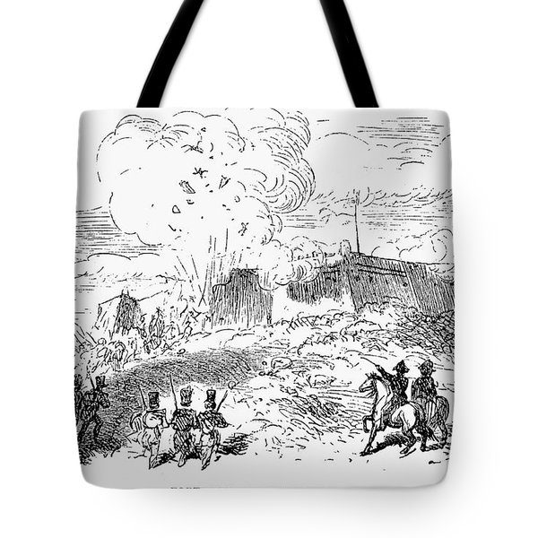 Battle Of Fort Erie, 1814 Tote Bag by Granger