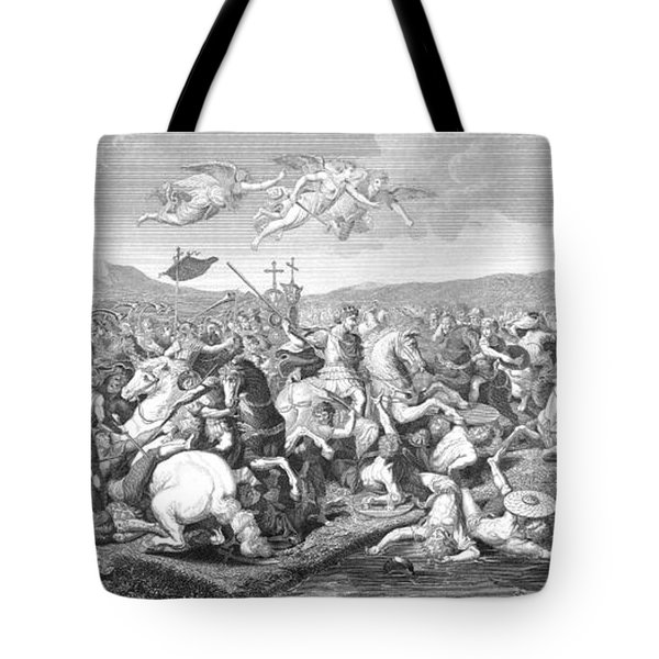 Battle Of The Milvian Bridge, 312 Ad Tote Bag by Photo Researchers