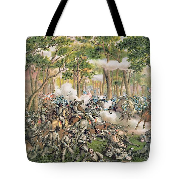 Battle Of The Wilderness May 1864 Tote Bag by American School