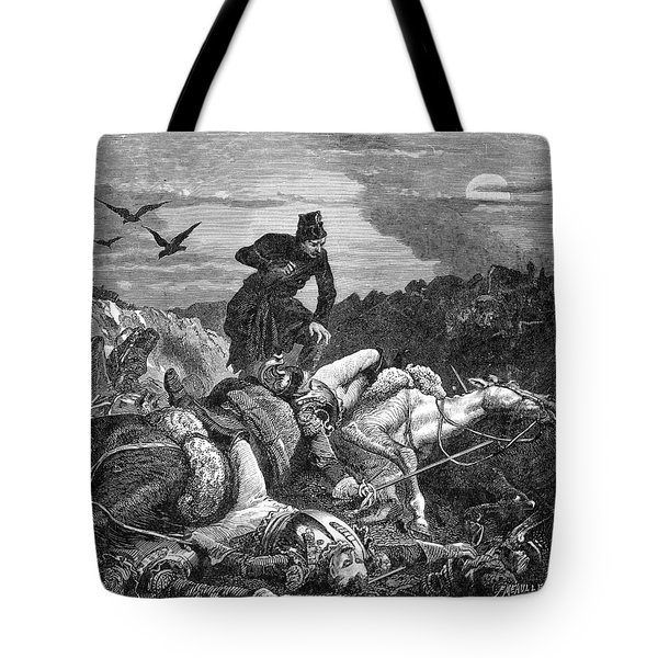 Battle Of Waterloo, 1815 Tote Bag by Photo Researchers