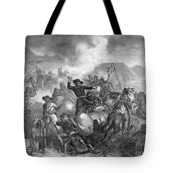 Battle On The Little Big Horn, 1876 Tote Bag by Photo Researchers