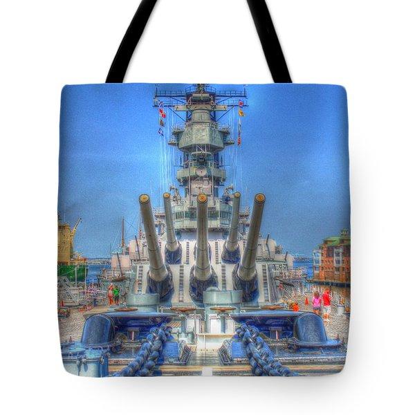 Battleship Tote Bag by Dan Stone