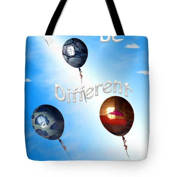 Be Different Tote Bag by Cheryl Young