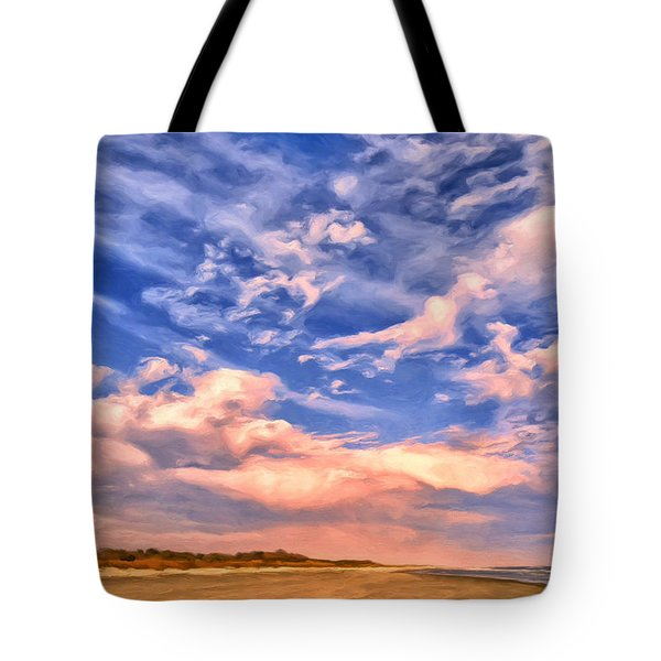 Beach At Sullivan's Island Tote Bag by Dominic Piperata