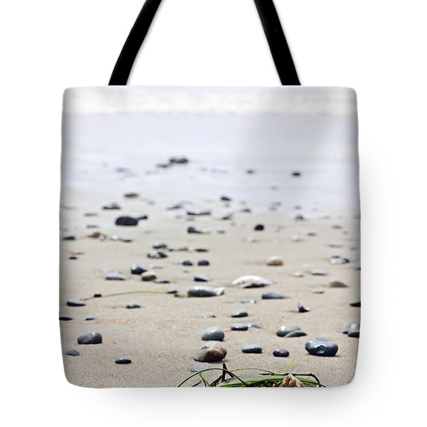 Beach Detail On Pacific Ocean Coast Of Canada Tote Bag by Elena Elisseeva