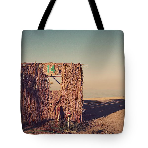 Beach Hut Number Fourteen Tote Bag by Laurie Search