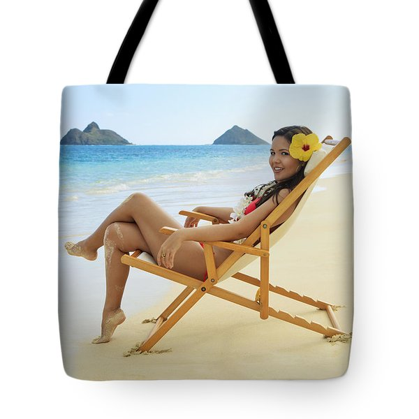 Beach Lounger Tote Bag by Tomas del Amo