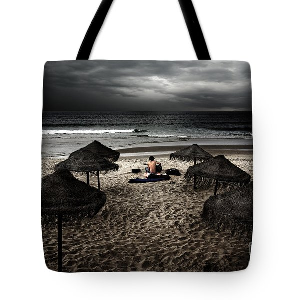 Beach Minstrel Tote Bag by Carlos Caetano