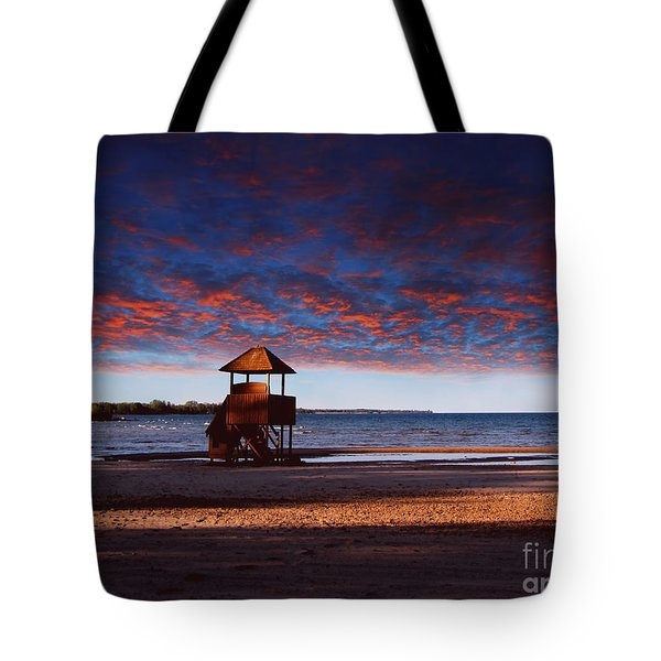 Beach Sunset Tote Bag by Ms Judi