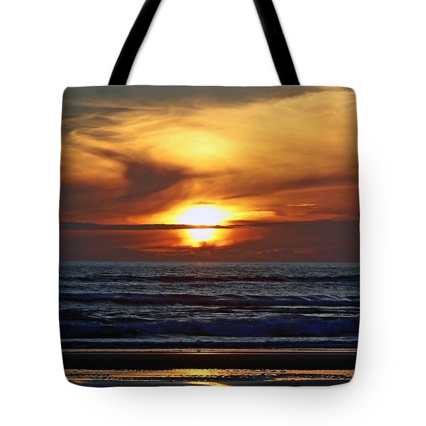 Beach Sunset  Tote Bag by Pamela Patch
