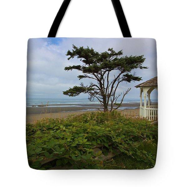 Beachside Gazebo Tote Bag by Heidi Smith