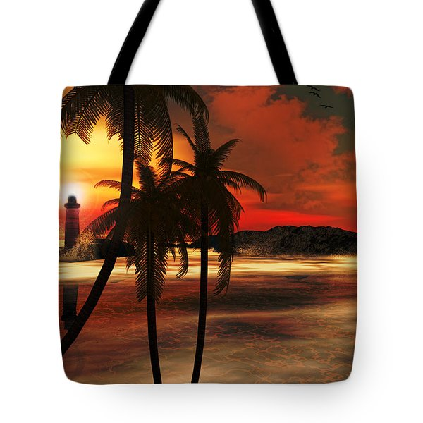 Beacon Of Light Tote Bag by Lourry Legarde