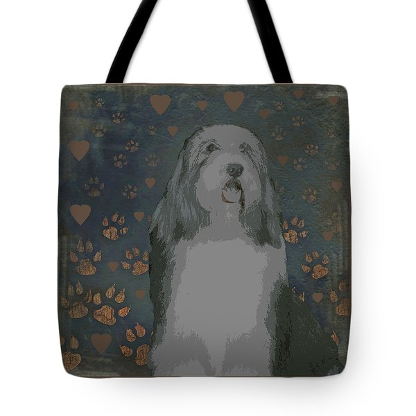 Bearded Collie Tote Bag by One Rude Dawg Orcutt