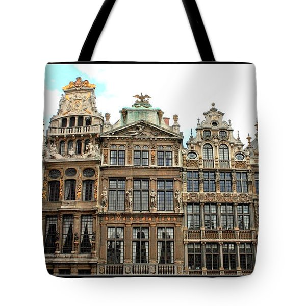 Beautiful Belgian Buildings - Digital Art Tote Bag by Carol Groenen