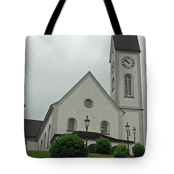 Beautiful church in the Swiss city of Lucerne Tote Bag by Ashish Agarwal