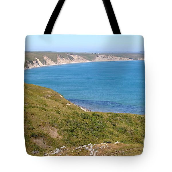 Beautiful Coastline of Point Reyes California . 7D16050 Tote Bag by Wingsdomain Art and Photography