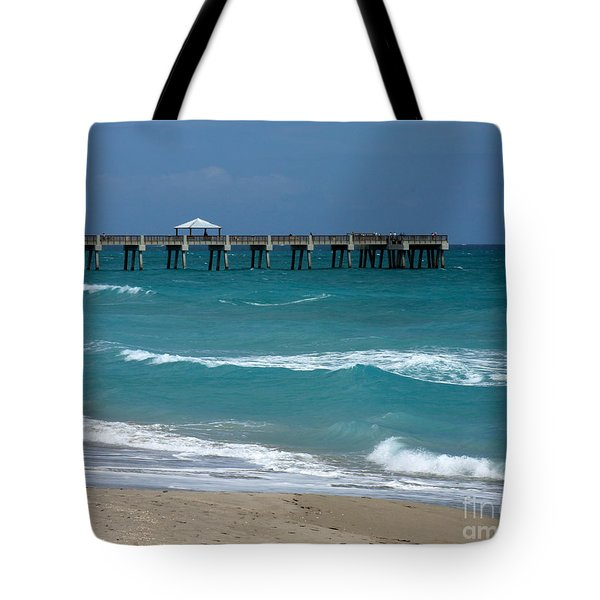 Beautiful Day At The Beach Tote Bag by Sabrina L Ryan