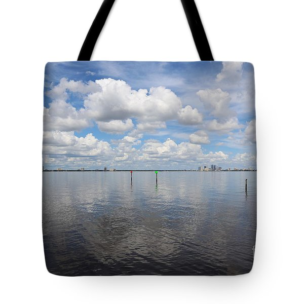 Beautiful Day In Tampa Tote Bag by Carol Groenen