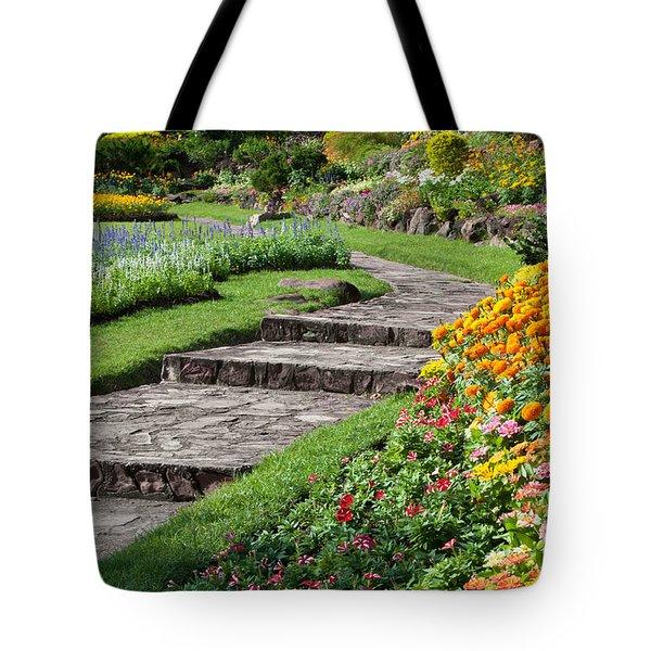 Beautiful Flowers In Park Tote Bag by Atiketta Sangasaeng