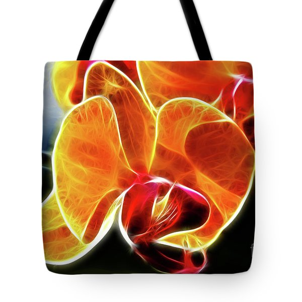Beautiful Yellow Orchid Tote Bag by Mariola Bitner