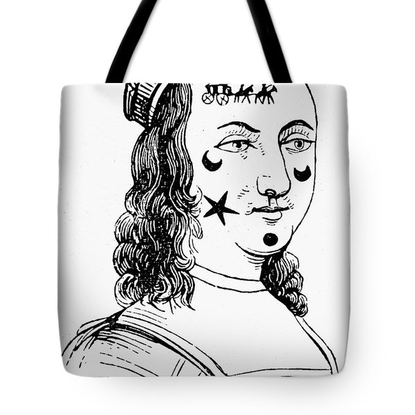 Beauty Spots, 17th Century Tote Bag by Granger