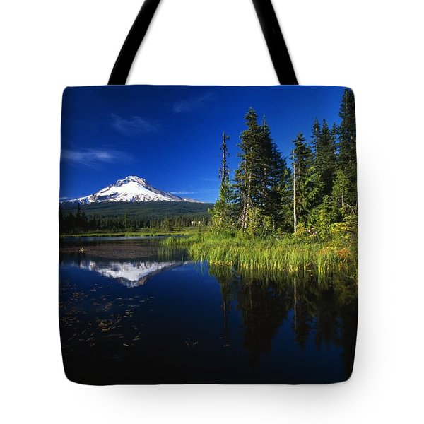 Beaver Dam In Pond, Reflection Of Mount Tote Bag by Natural Selection Craig Tuttle