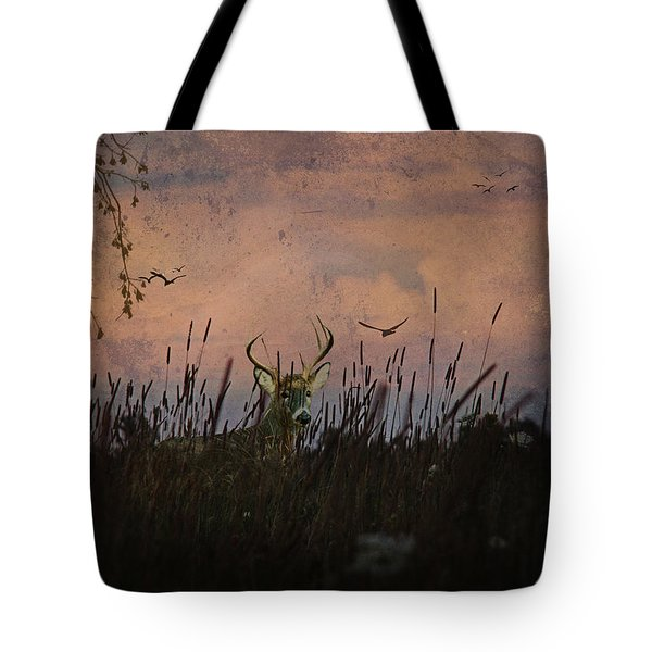 Bedding Down For Evening Tote Bag by Lianne Schneider