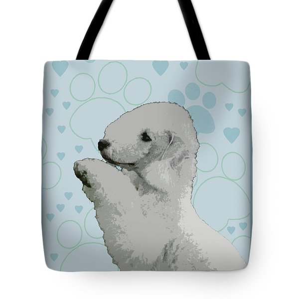 Bedlington Terrier Tote Bag by One Rude Dawg Orcutt