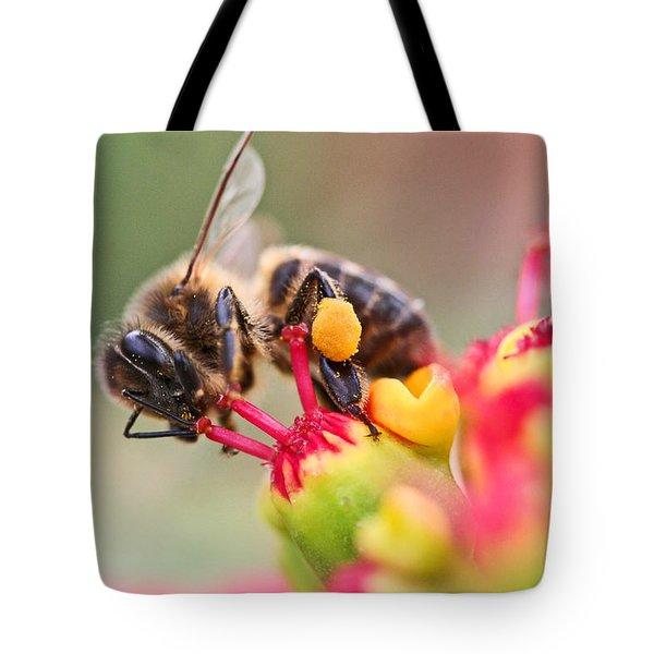 Bee At Work Tote Bag by Ralf Kaiser