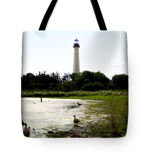 Behind the Cape May Lighthouse Tote Bag by Bill Cannon