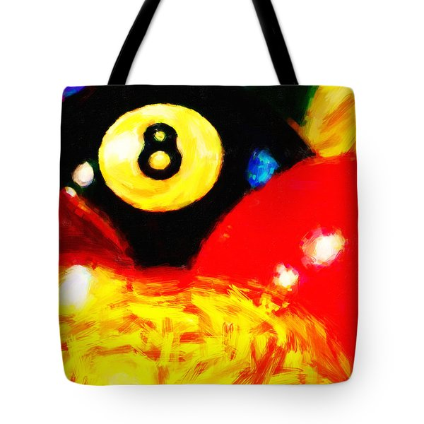 Behind The Eight Ball - Vertical Cut Tote Bag by Wingsdomain Art and Photography