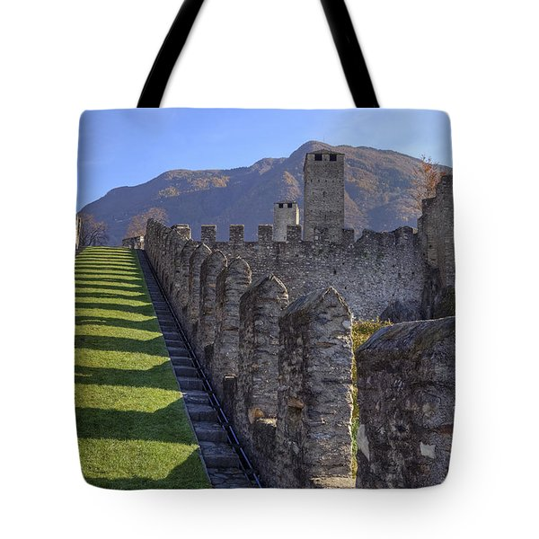 Bellinzona - Castelgrande Tote Bag by Joana Kruse