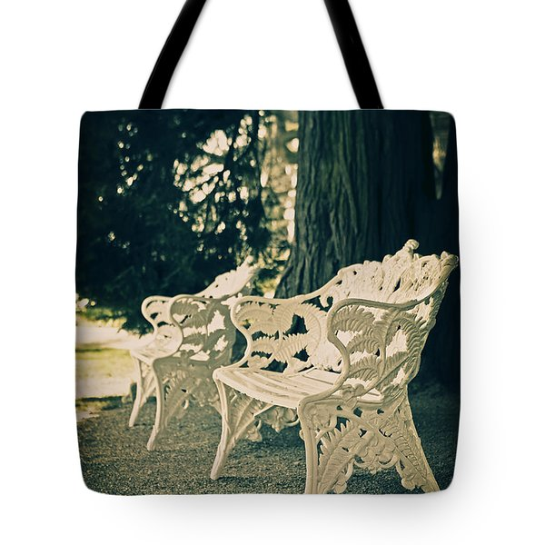 Benches Tote Bag by Joana Kruse