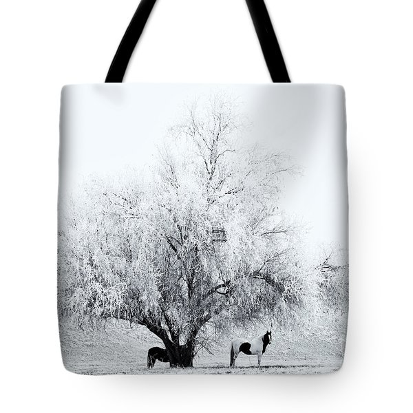 Beneath a Frosty Canopy Tote Bag by Mike  Dawson