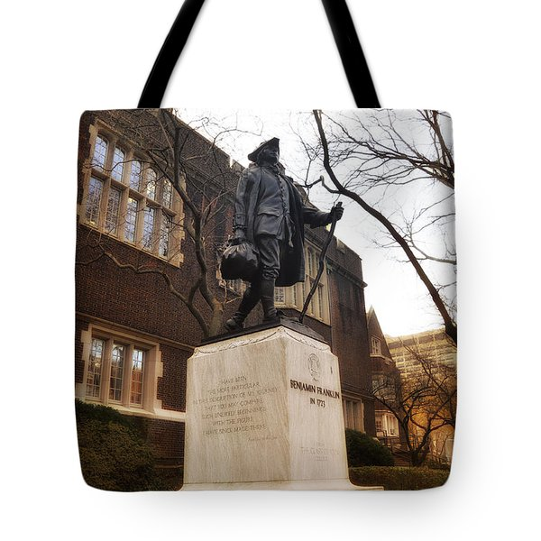 Benjamin Franklin  Tote Bag by Bill Cannon