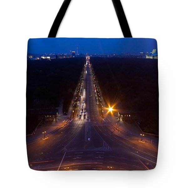 Berlin From The Siegessaule  Tote Bag by Mike Reid