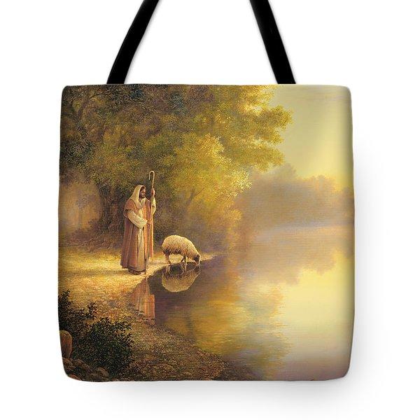 Beside Still Waters Tote Bag by Greg Olsen