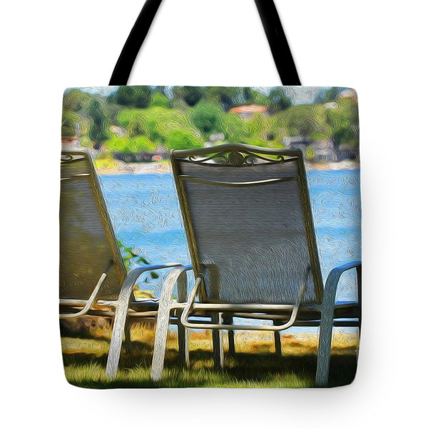 Best seats on the Island Tote Bag by Cheryl Young