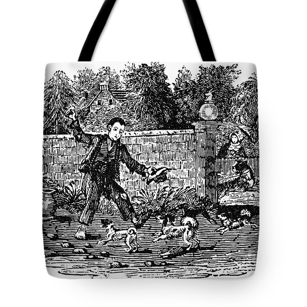 Bewick: Boy With Dogs Tote Bag by Granger