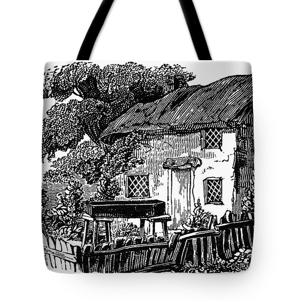 Bewick: Rural House Tote Bag by Granger
