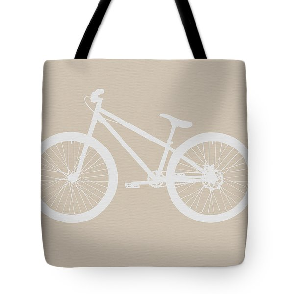Bicycle Brown Poster Tote Bag by Naxart Studio
