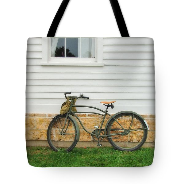 Bicycle By House Tote Bag by Jill Battaglia