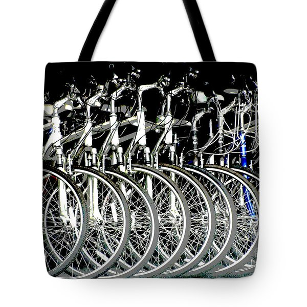 Bicycle Visions Tote Bag by Anahi DeCanio
