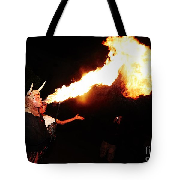 Big Axe Of Fire Tote Bag by Agusti Pardo Rossello